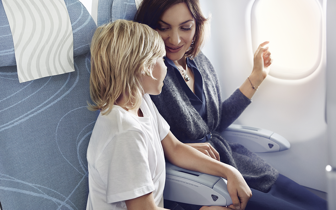 Finnair economy mother and son 01