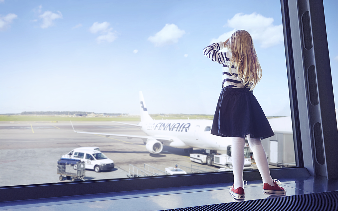 Finnair girl at gate 01