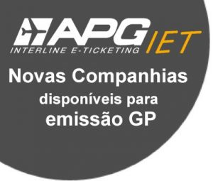 Novas companhias disponíveis para emissão interline com a chapa GP!